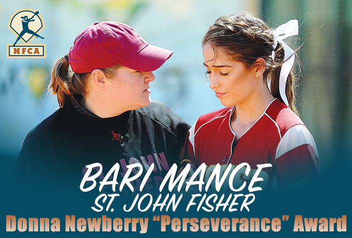 St. John Fisher's Mance selected to receive 2019 NFCA Donna Newberry