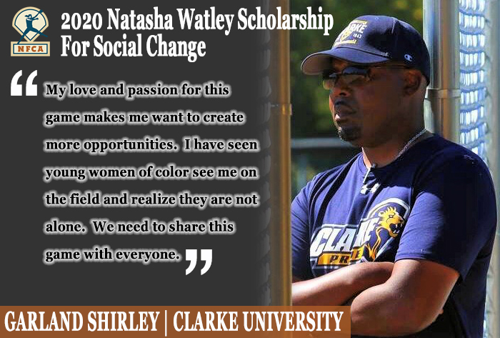 Garland Shirley inaugural recipient of Natasha Watley Scholarship for Social Change