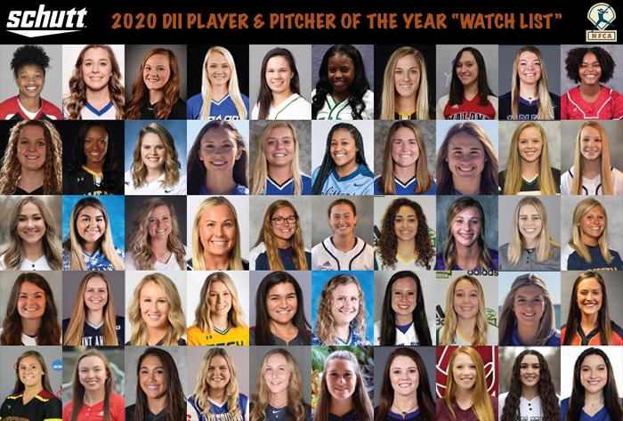 nfca, Schutt Sports, 2020 Schutt Sports NFCA Division II National Player and Pitcher of the Year Watch List