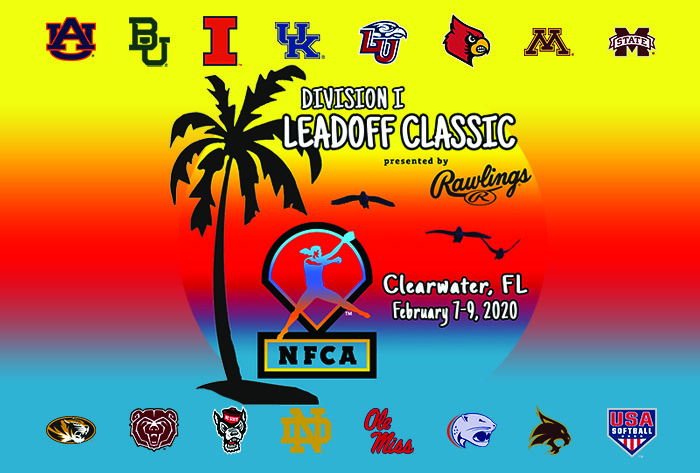 NFCA, Leadoff Classic, Tickets, Division I Softball, Rawlings, USA Softball, US National Team, US Women's National Team, USWNT, Clearwater, City of Clearwater, Eddie C. Moore, Auburn, Minnesota, Kentucky, Ole Miss, Mississippi State, Missouri, Louisville, Notre Dame, Missouri State, Texas State, Baylor, North Carolina State, South Alabama, St Pete/Clearwater Sports and Events