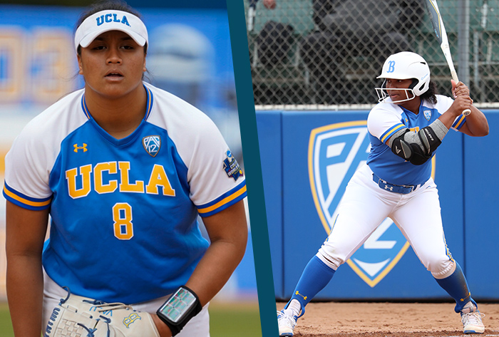 NFCA, Louisville Slugger, Wilson, Louisville Slugger/NFCA Division I Player of the Week, Wilson/NFCA Division I Pitcher of the Week,  Aaliyah Jordan, Megan Faraimo, UCLA