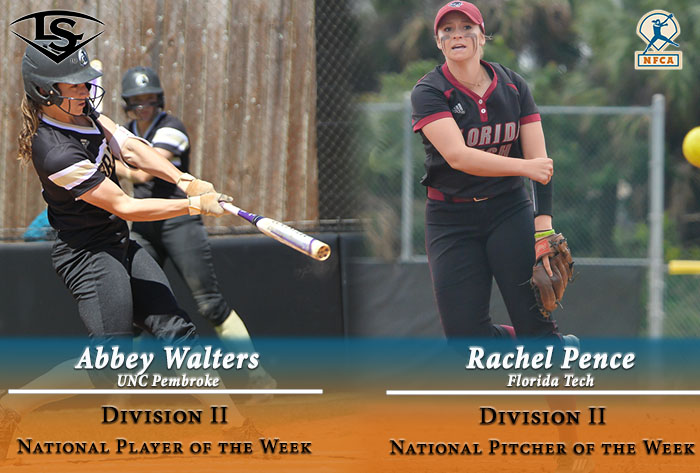 Walters, Pence earn 2017 Louisville Slugger/NFCA Division II weekly national honors