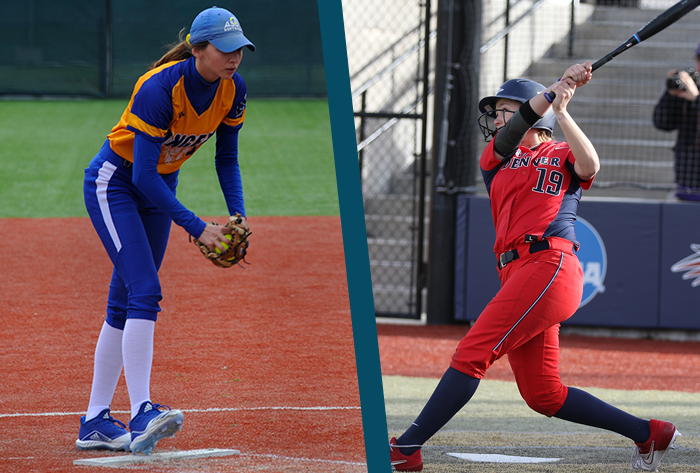 NFCA, Louisville Slugger, Wilson, Louisville Slugger/NFCA Division II Player of the Week, Wilson/NFCA Division II Pitcher of the Week,  Laney Sheppard, MSU Denver, Meagan Hill, Angelo State