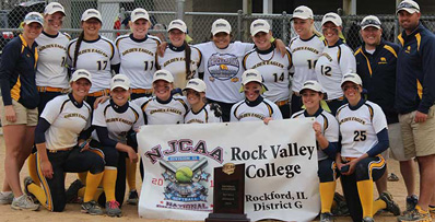 rock valley with trophy